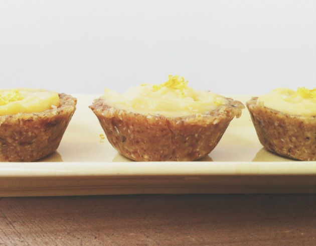 Lemon Curd Tarts with Raw Base | Every Healthy Day Blog