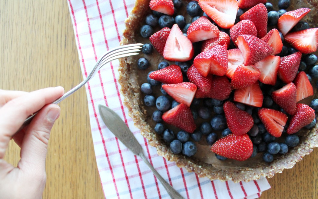 Raw Caramel Tart | Every Healthy Day